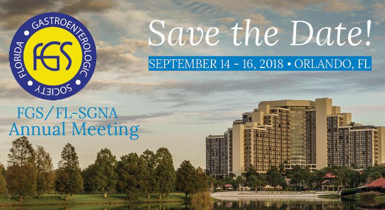 2018 FGS Annual Meeting September 14-16, 2018 at Hyatt Regency Grand Cypress in Orlando, Florida