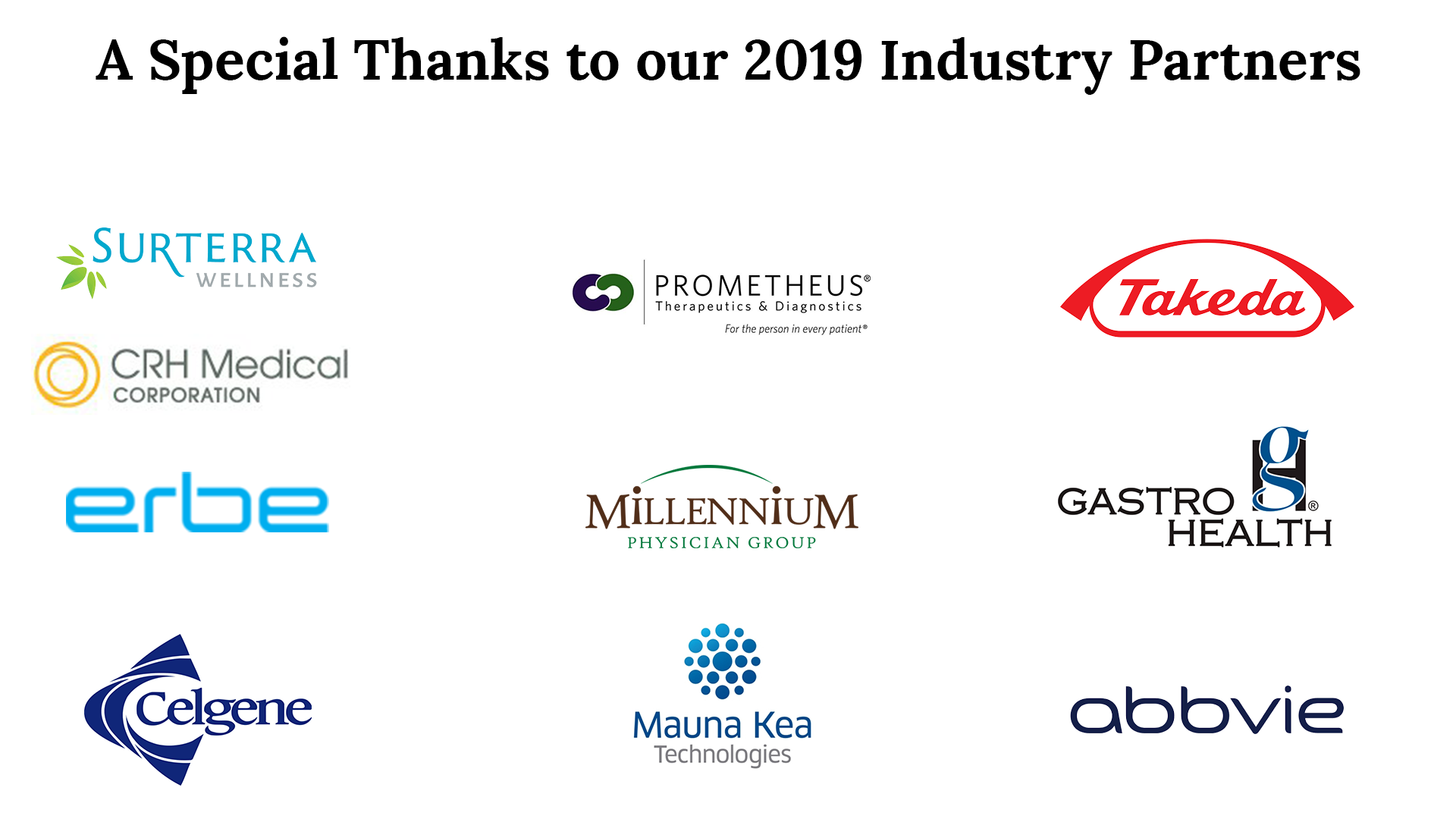 list of FGS 2019 industry partners